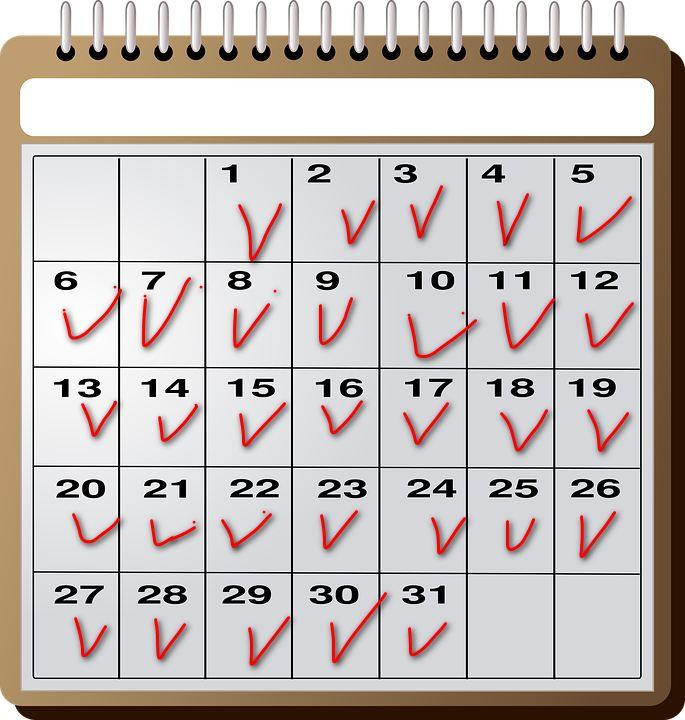 calendar mark685